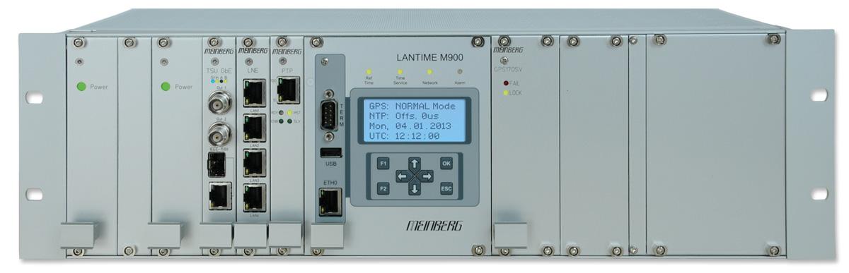 Modular PTP Grandmaster Clock and PTP Slave LANTIME M900/GPS