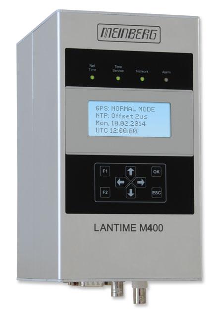 Railmount NTP Time Server with Display LANTIME M400